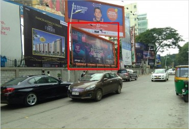 Advertising on Hoarding in UB City 10,Bangalore