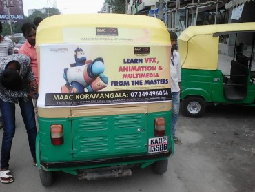Auto Rickshaw Advertising in Whitefield, Bangalore