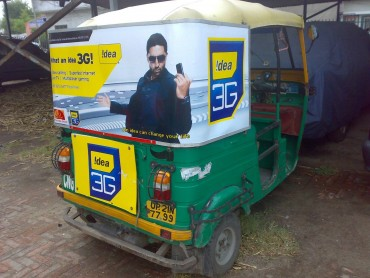 Auto Rickshaw Advertising in Bannerghatta Road, Bangalore